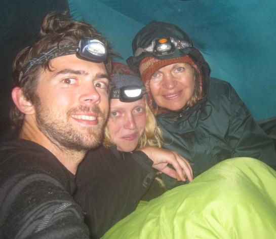 Robert, Anna-Sophie, Gertraud Wild in Nepal