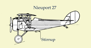 Stirrup on biplane