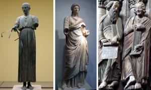 Sculpture drapery