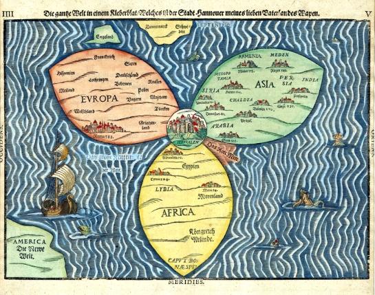1581 Bunting clover leaf map