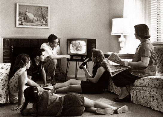 family and TV 1958