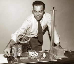 Mr. Wizard with experiment, circa 1950s.